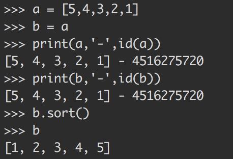 Python 中 list 的传值问题